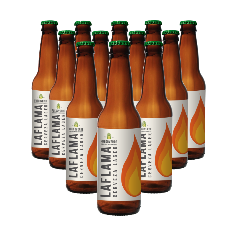 Caja 12 cervezas LAFLAMA 33cl