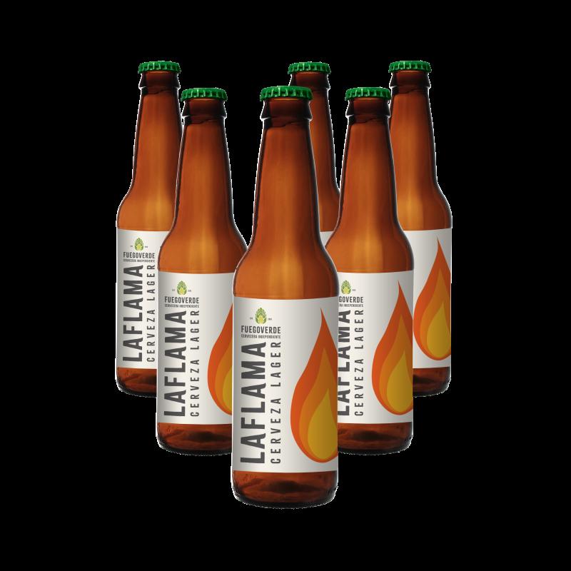 Pack 6 cervezas LAFLAMA 33cl